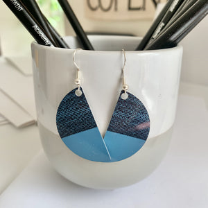 Jenni Balance Arc Earrings, Teal