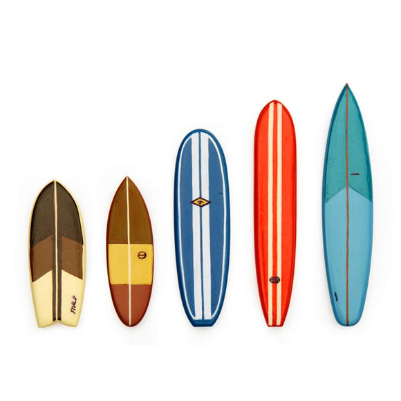 Surfboard magnets, set of 5