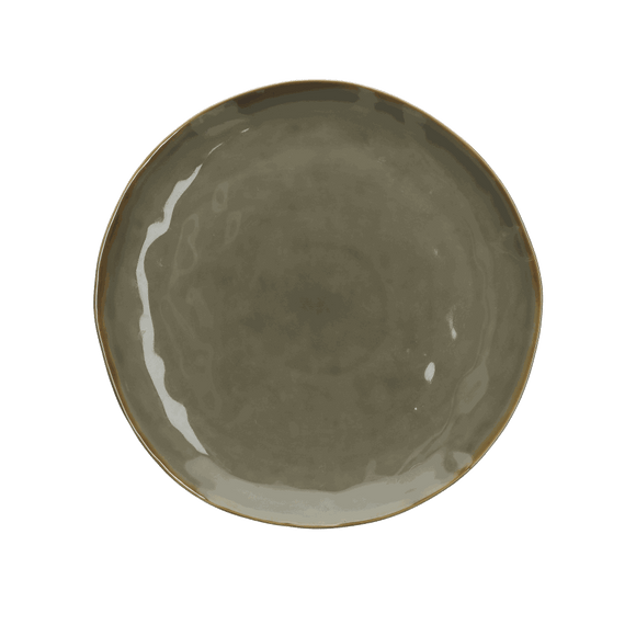 Italian Milano Dinner Plate, Grey
