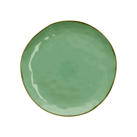 Italian Milano Dinner Plate, Mint Green