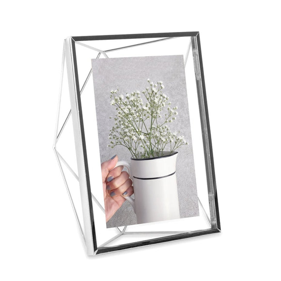 Prism photo frame, chrome