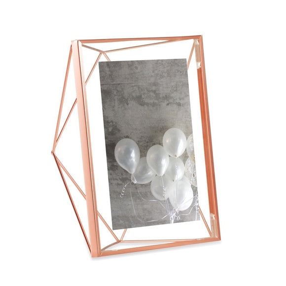 Prism photo frame, copper