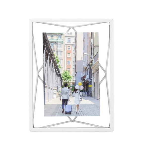 Prism photo frame, white