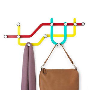 Subway Wall Hooks, multicolour