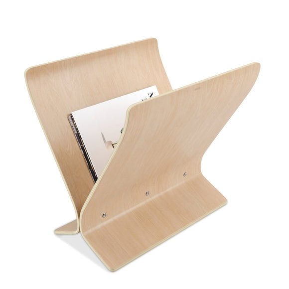 Magazine Rack, winged, Natural