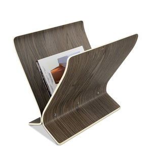 Magazine Rack, winged, Walnut