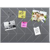 Geometric Bulletin / Memo Board, magnetic grey