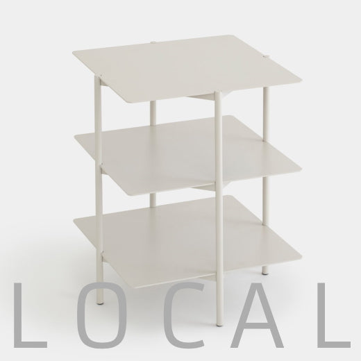 Steel Three-Tiered Side Table