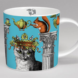 Zoologique Mug, blue Cat