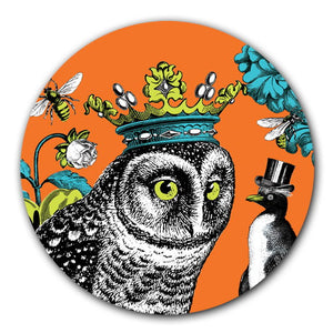 Zoologique Coaster, orange Owl