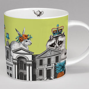 Zoologique Mug, green Raccoon