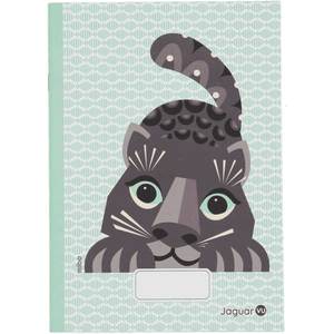 Animaux A5 lined & blank Notebook, green JAGUAR