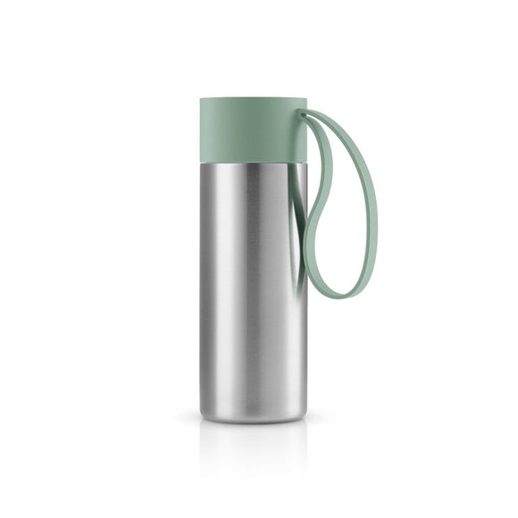 On-The-Go Steel Coffee Flask, Faded green