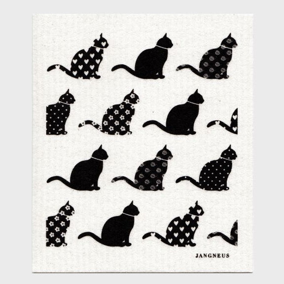 Jangneus Dishcloth, Black Cats
