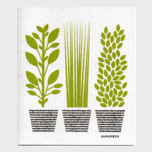 Jangneus Dishcloth, Green Herbs