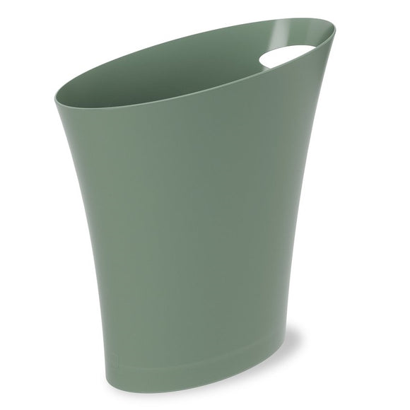 Slimline Trash Can/Bin, green