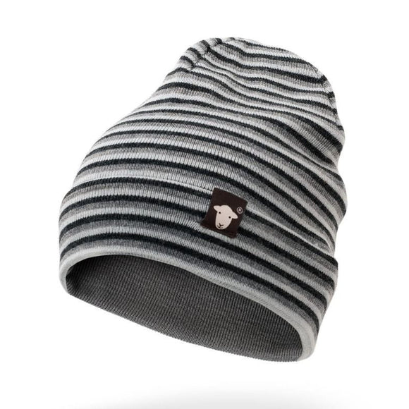 Herdy Striped Beanie, Grey