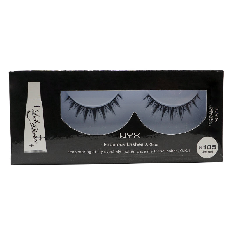 NYX Fabulous Lashes & Glue - 105 - Jet Set