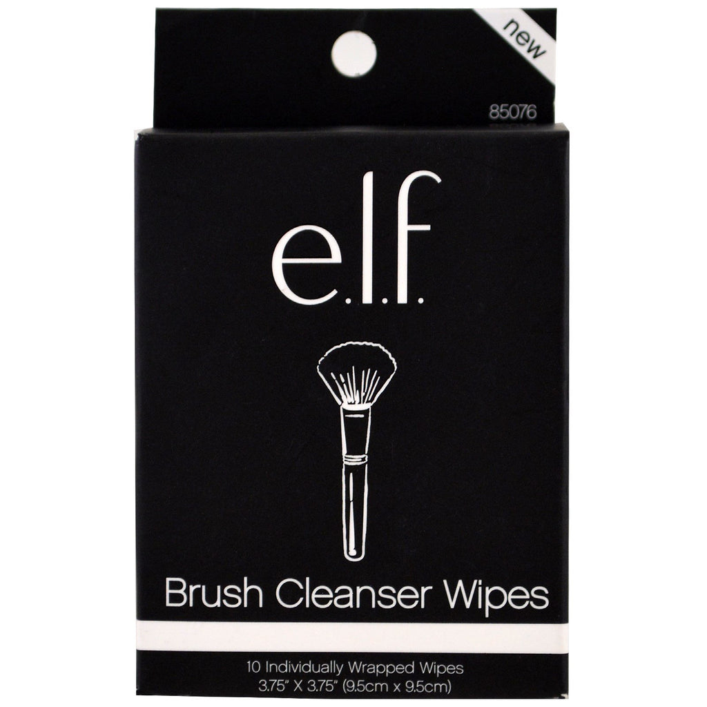 e.l.f Brush Cleanser Wipes 10 Individually wrapped wipes