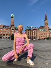 Load image into Gallery viewer, Pink pastel gingham top in Copenhagen