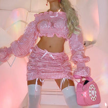 Load image into Gallery viewer, Luminosa ~ Pink Gingham Mini Skirt