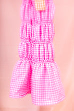 Load image into Gallery viewer, pink gingham midi dress fishtail