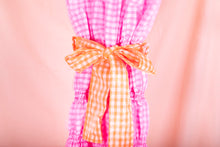 Load image into Gallery viewer, pink gingham midi dress tie waist detail