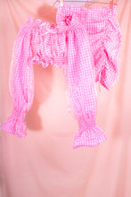 Load image into Gallery viewer, pink gingham mini skirt coord view