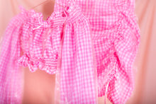 Load image into Gallery viewer, pink gingham mini skirt coord close view