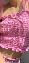 Load image into Gallery viewer, Close up of pink pastel gingham top
