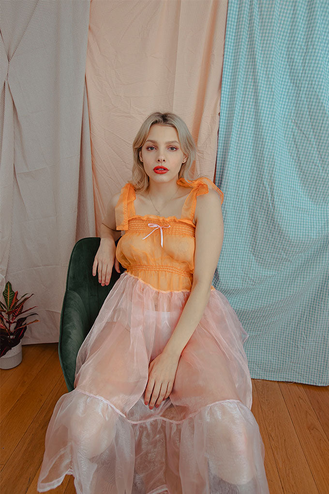 Marmellata ~ Organza Tiered Midi Dress