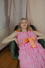 Load image into Gallery viewer, Pesca Fresca ~ Pink Gingham Midi Dress