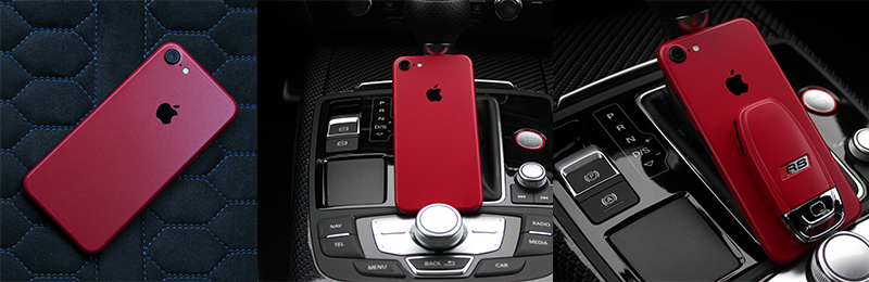 Cherry Metallic Matt iPhone Skin
