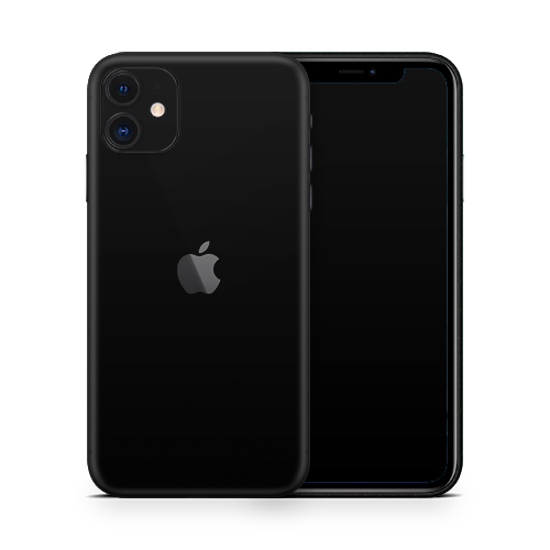 iPhone 12 Skin - Black Super Matt