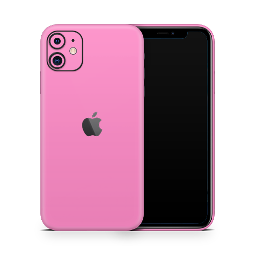 iPhone 11 Skin - Pink Bubblegum Satin