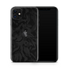 iPhone 11 Skin - Black Camouflage 3D