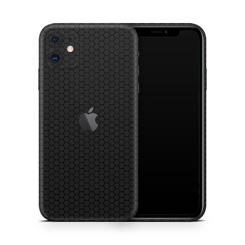 iPhone 11 Skin - Black Honeycomb