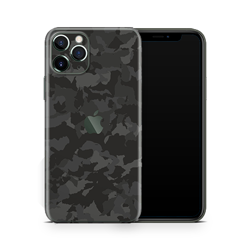 iPhone 11 Pro Skin - Black Camouflage 3D