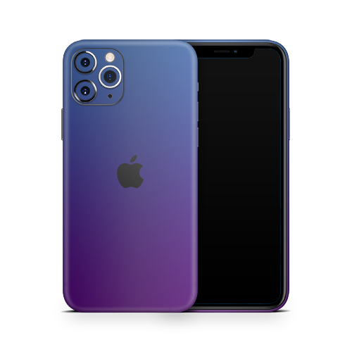 iPhone 12 Pro Skin - Caribbean Blue Chameleon Matt