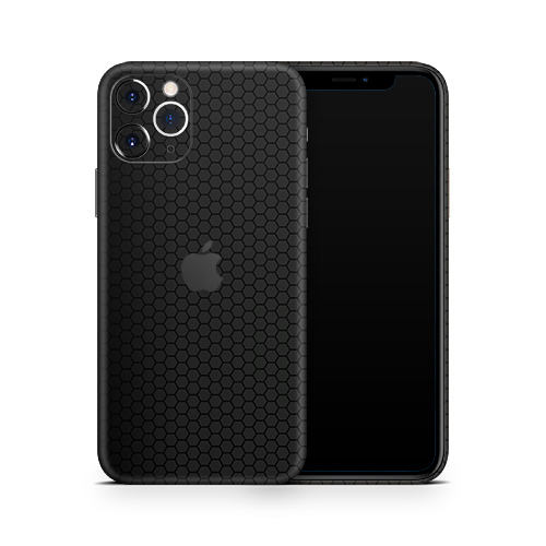 iPhone 11 Pro Max Skin - Black Honeycomb