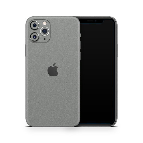 iPhone 11 Pro Skin - Silver Metallic Matt