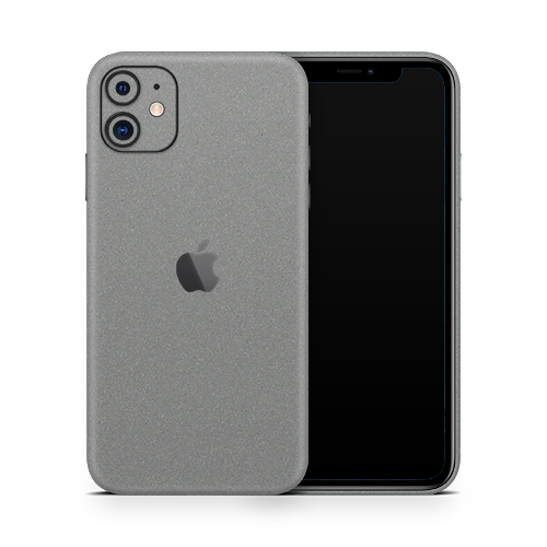 iPhone 12 Skin - Silver Metallic Matt