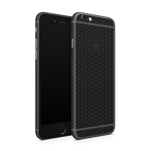 iPhone 6 Skin - Black Honeycomb