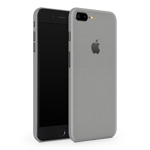 iPhone 8 Plus Skin - Silver Metallic Matt