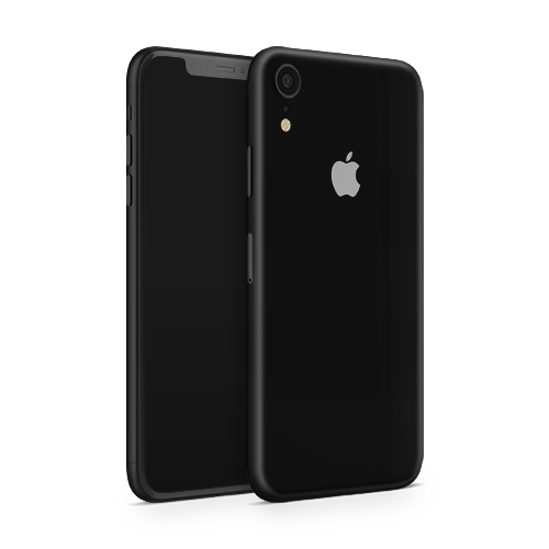 iPhone XR Skin - Black Super Matt