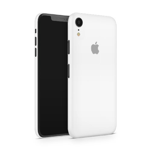 iPhone XR Skin - White Matt