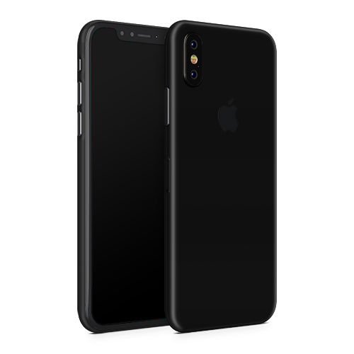 iPhone XS Max Skin - Black Super Matt