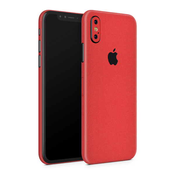 iPhone X Skin - Cherry Metallic Matt