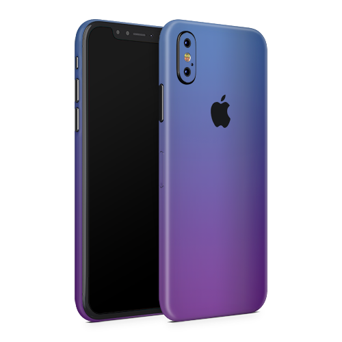 iPhone X Skin - Caribbean Blue Chameleon Matt