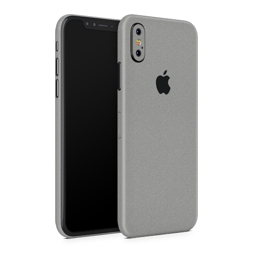 iPhone X Skin - Silver Metallic Matt